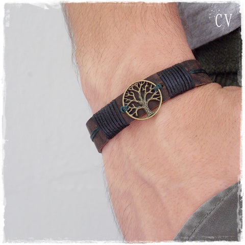 Tree Of Life Leather Bracelet * !!