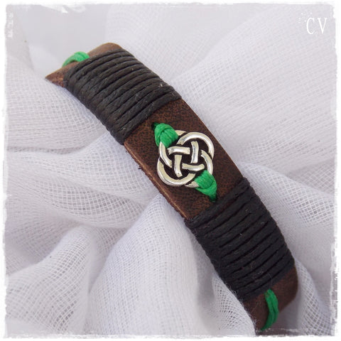 Celtic Leather Bracelet