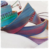 Artistic Hand-Painted Leather Bracelets