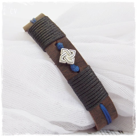 PERSONALIZED Celtic Leather Bracelet