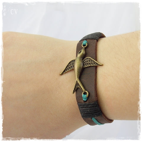 Swallow Leather Bracelet