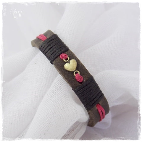 Dainty Heart Leather Bracelet