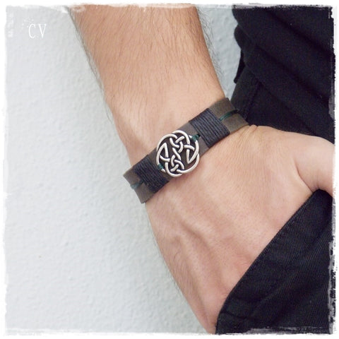 Pagan Leather Bracelet Cuff