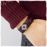 Root Chakra Leather Bracelet Cuff