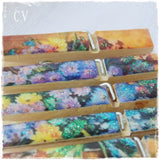 Painting Flowers Wooden Bookmarks