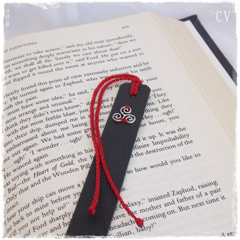 Triskelion Leather Bookmark ~