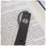 Irish Love Knot Leather Bookmark