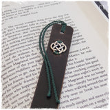 Celtic Knot Leather Bookmark