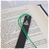 Triquetra Leather Bookmark