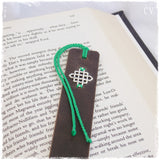 Chinise Knot Leather Bookmark