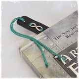 Leather Anniversary Infinity Bookmark ~