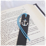 Anchor Leather Bookmark