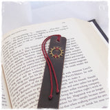 Steampunk Leather Bookmark