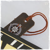 Traveler's Leather Bookmark ~ !