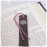 Lotus Flower Leather Bookmark