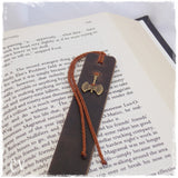 Double-Headed Axe Leather Bookmark