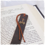 Ancient Greek Battle Axe Leather Bookmark