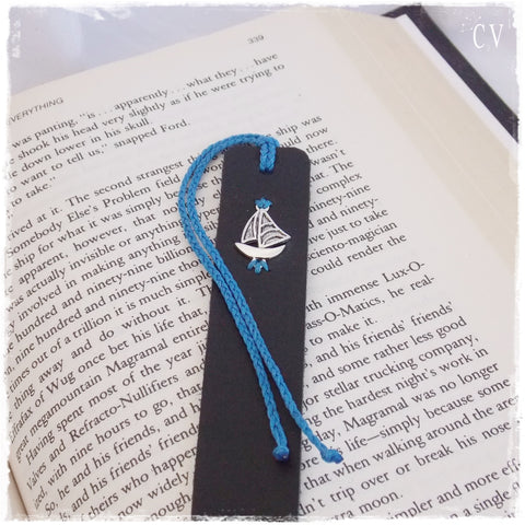 Sailing Boat Personalized Bookmark