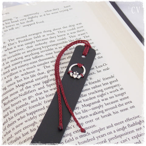 Claddagh Leather Bookmark
