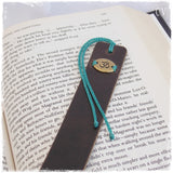Meditation Leather Bookmark ~
