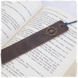 Traveller's Engraved Leather Bookmark