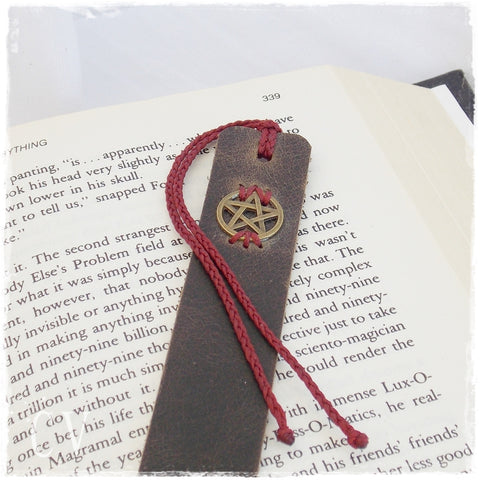 Pentagram Leather Bookmark