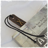 Leather Anniversary Infinity Bookmark