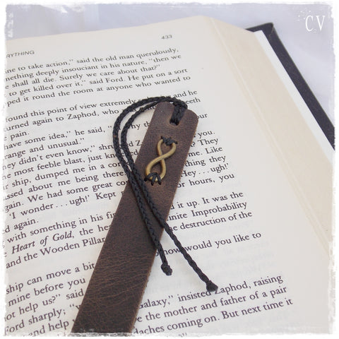 Leather Infinity Bookmark