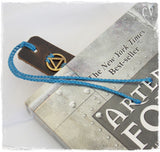 Sobriety Leather Bookmark