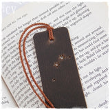 Personalized Aries Leather Bookmark