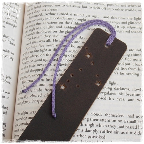 Capricorn Personalized Leather Bookmark