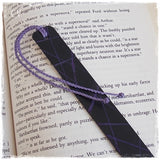 Leather Anniversary Black Engraved Bookmark