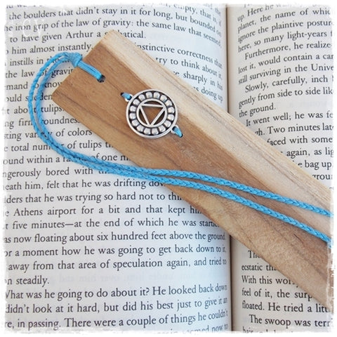 Throat Chakra Wooden Bookmark