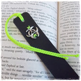 Biohazard Leather Bookmark