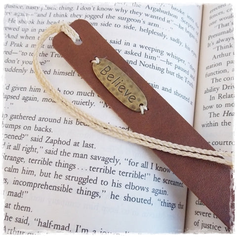 Inspirational Leather Bookmark