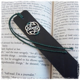 Personalized Celtic Leather Bookmark