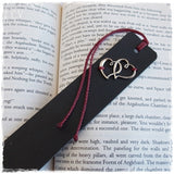 Twin Hearts Bookmark - 3rd Anniverasry Gift