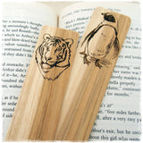 Wild Animals Engraved Wooden Bookmarks