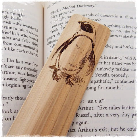 Penguin Totem Personalized Bookmark
