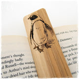 Penguin Laser Engraved Wooden Bookmark