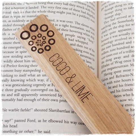 Custom Logo Wooden Bookmark