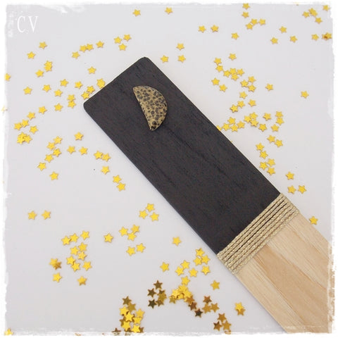 Half Moon Personalized Wooden Bookmark