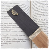 Engraved Half Moon Wooden Bookmark