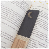 Gold Crescent Moon Wooden Bookmark*