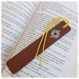 Yoga Leather Bookmark