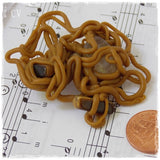 Tiger's Eye & Rutilated Quartz Spaghetti Polymer Clay Brooch