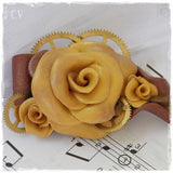 Steampunk Rose Brooch Pin