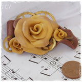 Handmade Gold Rose Broach
