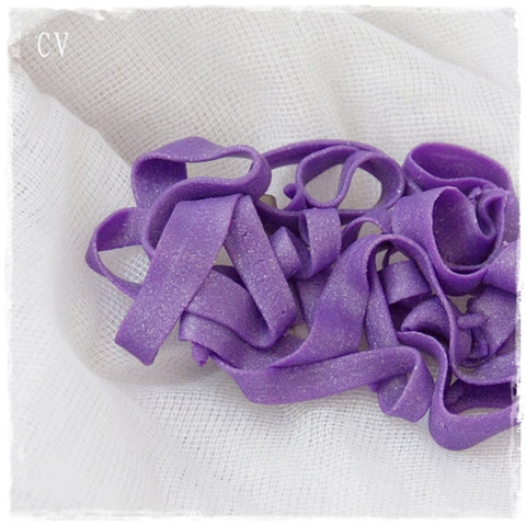 Tagliatelle Polymer Clay Purple Brooch