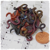 Abstract Polymer Clay Brooch - Greek Mythology
